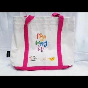 Amy Tangerine Be Happy Box Tote Bag HP